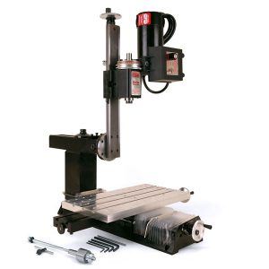 "5800 (5810)—Mill with 18"" Base, 15"" Extended Column Bed, 18"" Extended Mill Table, Extra-rigid Column Base, 7"" x 13"" tooling plate, Y-axis Leadscrew Protection, drill chuck and adjustable zero handwheels"