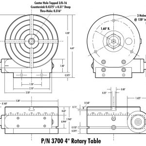 3700 Manual Rotary Table